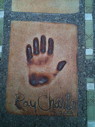 Jazz à Juan - Ray Charles' hand impression on Boulevard Edouard Baudoin, Juan les Pins