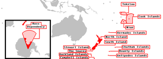 New Zealand outlying islands - Image: Realm of New Zealand