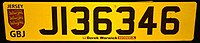Rear number plate of Jersey Island.jpg