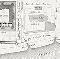 Reconstructed 1595 site plan of the Petit-Bourbon - Hofbauer 1885.jpg