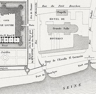 Hôtel du Petit-Bourbon - Site plan of the Petit-Bourbon