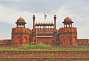 Red fort, Front View, Lahore Gate