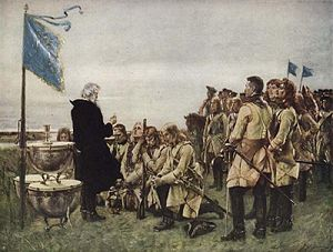 1706 in Sweden - Thanksgiving after the victory of Fraustadt – Gustaf Cederström