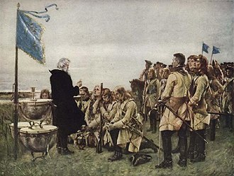 Caroleans - Communion was an important ritual for the Swedish soldiers, especially before battle – Gustaf Cederström.