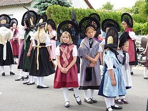 Fronleichnamsprozession auf der Reichenau, Tra...