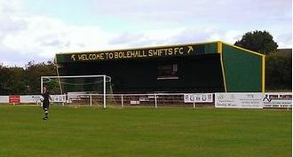 Bolehall Swifts F.C. - The main stand at the club's ground