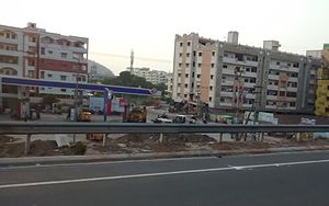 Tadepalle, Guntur district - Residential area at Tadepalle near National Highway 16