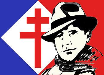 Logo Résistance française (Jean Moulin et Croi...