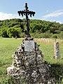 Resson (Meuse) memorial aviateur sur croix de chemin.jpg