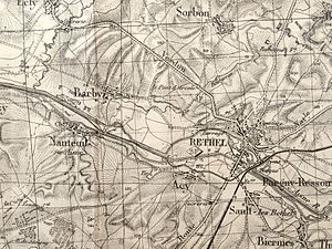 Barby, Ardennes - 1935 Map of Barby