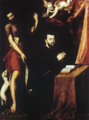 Retrato de D. João III e S. João Baptista (terc. quartel do séc. XVI) - atr. Lourenço de Salzedo (Mosteiro da Madre de Deus).png