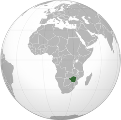 Location of Rhodesia