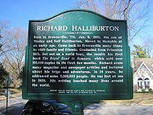 737ec596a19 Halliburtonova pamětní deska v Brownsville