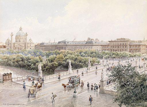 Richard Moser Wien Elisabethbrücke 1911