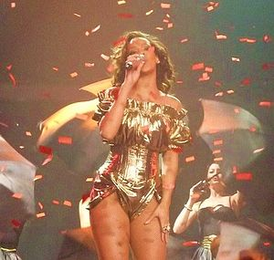 "Umbrella (song) - Rihanna performing ""Umbrella"" during the Loud Tour"