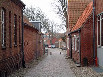 Ringkøbing - Typical street in Ringkøbing.
