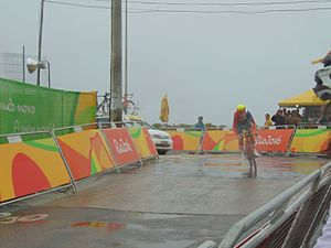 Cycling at the 2016 Summer Olympics – Women's road time trial - Ellen van Dijk crashed and finished fourth