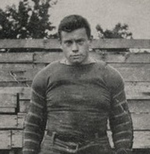 R. N. MacCallum - MacCallum in football uniform c. 1913