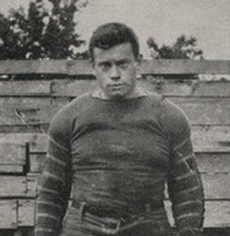 R. N. MacCallum - MacCallum in football uniform c. 1913