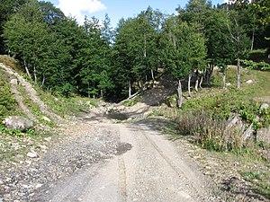 Pskhu - Mountain road to Pskhu