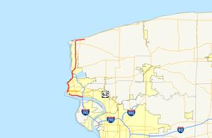 Niagara Scenic Parkway - Image: Robert Moses State Parkway map