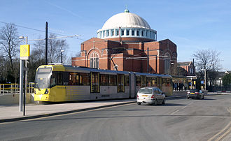 Rochdale - The Metrolink stop at Rochdale railway station