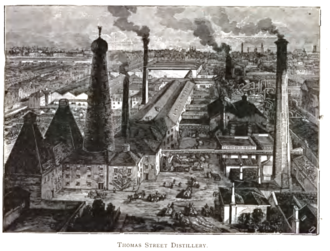 Thomas Street Distillery - Roe's Thomas Street Distillery, circa. 1892.
