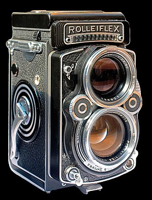 Rollei - Rolleiflex medium format camera.