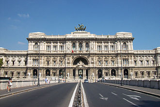 Palace of Justice, Rome - The Palace of Justice seen from the Ponte Umberto I