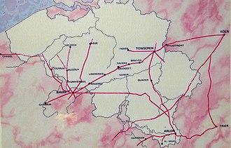 Gallia Belgica - Roman roads in Belgium