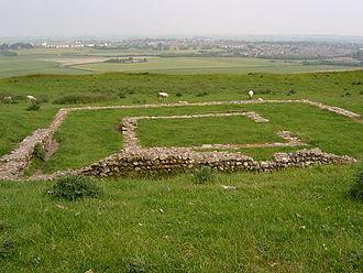 Romano-Celtic temple - Romano-Celtic temple at Maiden Castle