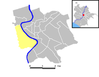 Position of the rione within the center of the city