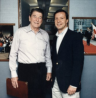Christopher Cox - Cox with President Ronald Reagan in 1986