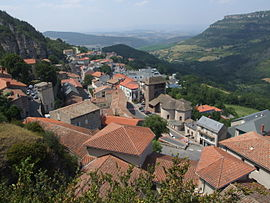 A general view of Roquefort-sur-Soulzon