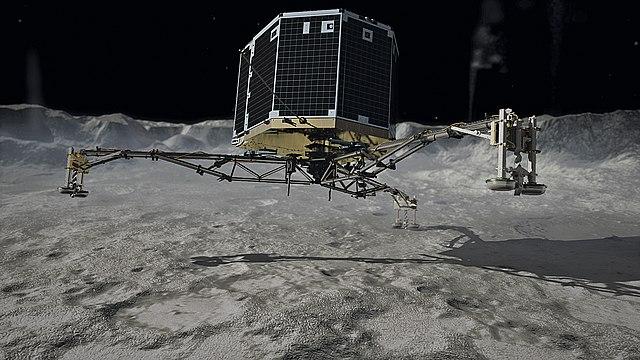 Touchdown on comet 67P/Churyumov-Gerasimenko