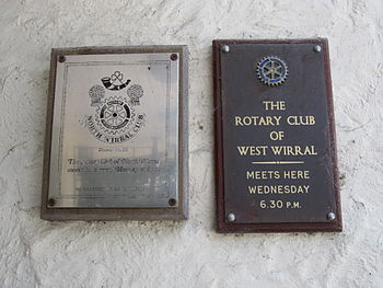 Rotary Club plaques at The Heatherlands, Thurs...