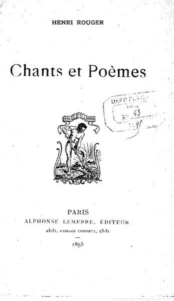 File:Rouger - Chants et Poèmes, 1895.djvu