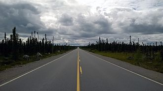 The Trans-Labrador Highway is the primary highway for Labrador. Route 500 Churchill Falls - Labrador City.jpg