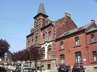 Roux, Belgium - former town hall (1895)