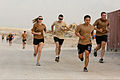 Royal Australian Air Force Flight Lt. S. Alex Danishyar, second from right, participates in the Sand to Sand charity run at Multinational Base Tarin Kowt, Uruzgan province, Afghanistan, Aug. 17, 2013 130817-O-MD709-272-AU.jpg