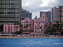 Royal Hawaiian Hotel seen from the sea.jpg