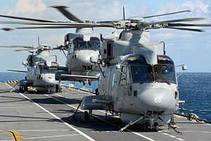 Future of the Royal Navy - Merlin HM2's operating on HMS Illustrious