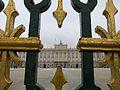 Royal Palace of Madrid Main Gate Fence Gold and Black Decoration at Main Entrance myspanishexperience com.jpg