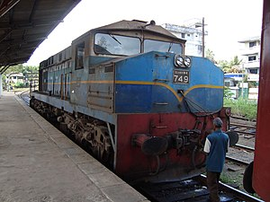 Galle railway station - An old M4 locomotive at Galle Station
