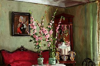 Interior of a living room in Bohdanów - Hollyhocks.