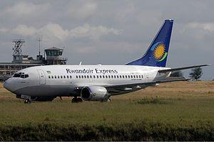 RwandAir - A former Rwandair Express Boeing 737-500