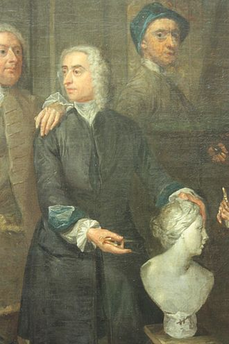 "John Michael Rysbrack - Rysbrack as shown in a detail of ""A Club of Artists"" by Gawen Hamilton, 1734, National Portrait Gallery, London"