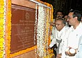 S. Jaipal Reddy and the Minister of State for Urban Development, Shri Ajay Maken unveiled the plaque at the foundation stone laying ceremony for covering the NALAH Opposite Defence Colony Club, in New Delhi.jpg