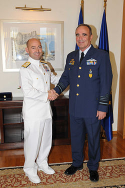 SACEUR Admiral James Stavridis with Chief of HNDGS, ACM Ioannis Giagkos, 2009.jpg