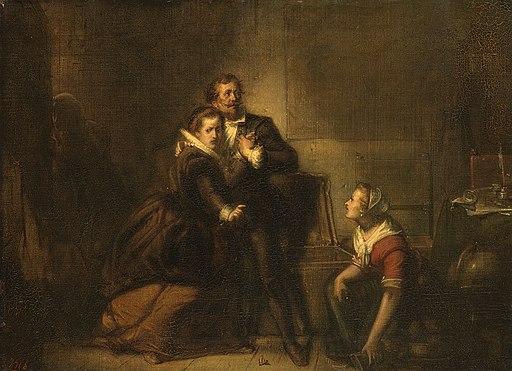 SA 4917-Anno 1621. Hugo de Groot ontsnapt in een boekenkist uit slot Loevestein